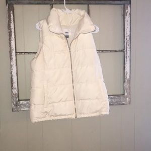 White vest with lining